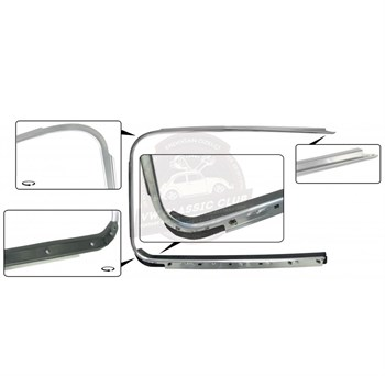 BBT4VW Outer Window Trim with Scraper - Right
