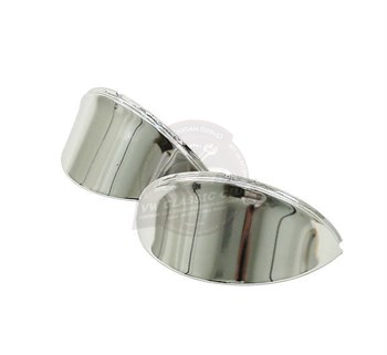 Jopex Headlight Eyebrows Louvered Chrome Pair