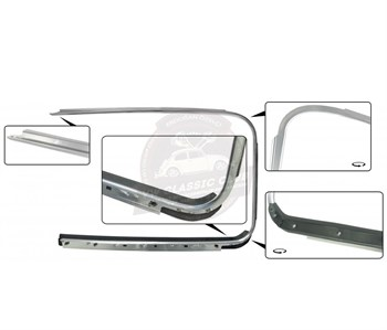 BBT4VW Outer Window Trim with Scraper - Left