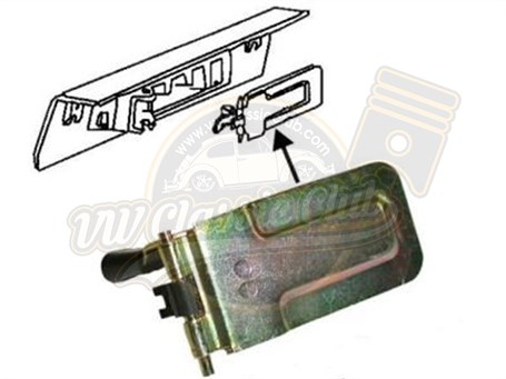 Heater Control Flap for the Right Side (1200-1300-1302-1303)