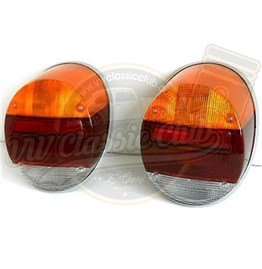 Rear Light Assembly with Amber, Red and Clear Lens