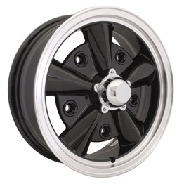 Wheel 5x15 Inch Black Chrome Rim 5x205 (1955-1967)