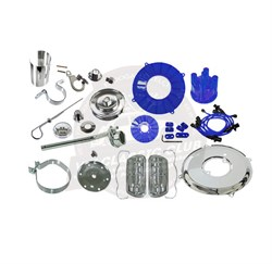 Chrome Deluxe Complete Engine Set - Blue