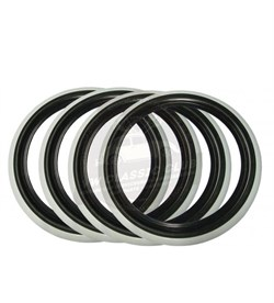 "15"" Black and White Wall Tyre Trims - Pair"