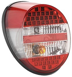 Paruzzi Complete Rear Light with LED Lights Red Smoked and Red Lens