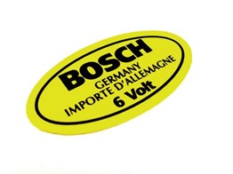 Bosch 6 Volt Sticker