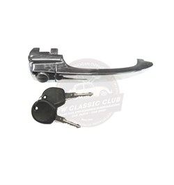 Locking Door Handle with Keys Chrome (1100-1200)