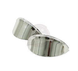 Headlight Eyebrows Louvered Chrome Pair