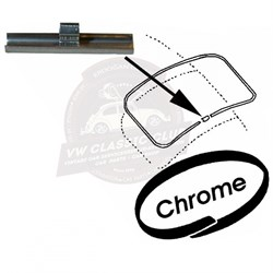 Screen Seal Insert Joining Clip Chrome (Piece) (1100-1200-1300-1302-1303-T2-Karmann Ghia-Variant)