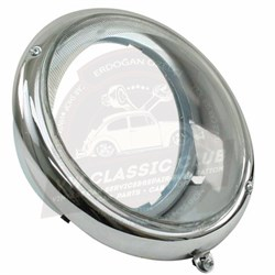 Headlight Assembly with Chrome Rim US Specification