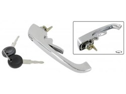 Cab Door Handle Chrome 1 Piece