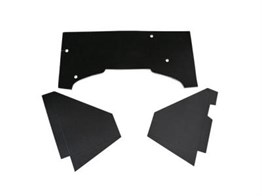 Black Engine Sound Isolation Cardboard