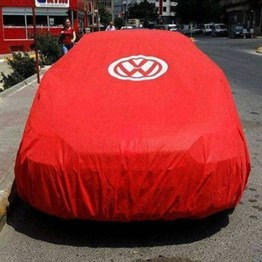 Vw Classic Club Red Tarpaulin with VW Logo
