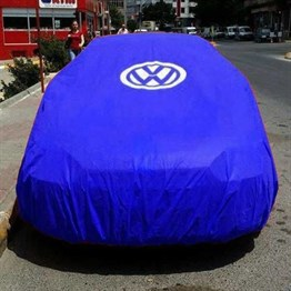 Vw Classic Club Blue Tarpaulin with VW Logo