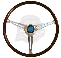 GT Wood Rim Steering Wheel