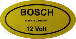 Bosch 12 Volt Sticker