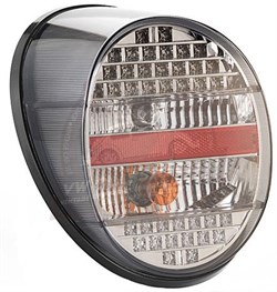 Complete Rear Light Dark Grey &  Red Lens (Piece) (1303)