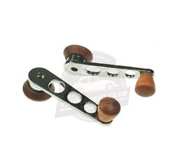 Window Winder Handles Chrome with Wooden Knob