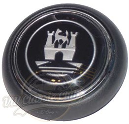 Horn Button Black-Silver (T1-1100)