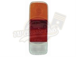 Empi Rear Light Lens in Red and Yellow