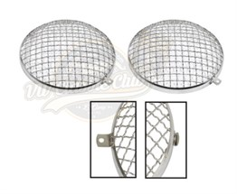 VW Mesh Headlight Grilles Set (1300-1302-1303-T2BAY-Karmann Ghia-Type3)