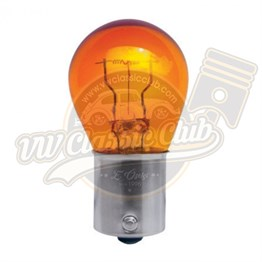 Yellow Signal Lamp With Single Socket S25 12V 21W