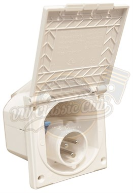 Hook Up Inlet Flush Fit Straight White (T1-T2-T2A-T2B)