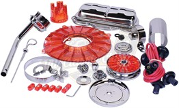 Chrome Deluxe Complete Engine Set - Red