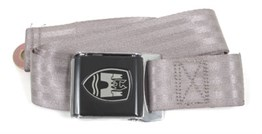 Front Seat Belt 2 Point Inertia with Chrome Buckle and Grey Webbing
