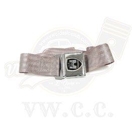 2-Point Lap Seat Belt Chrome Grey (Piece) (1200-T1)