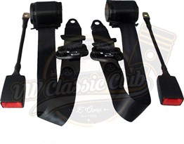 Front Seatbelt with 3 Joints Automatic Type Black Pair