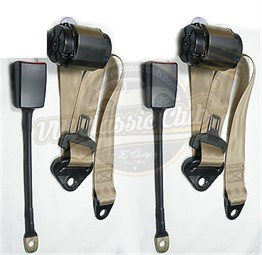 Front Seatbelt with 3 Joints Automatic Type Cream Pair