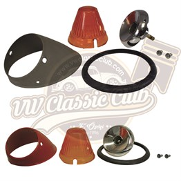 Bullet Front Indicator Assembly with Amber Lens Set (55-57)