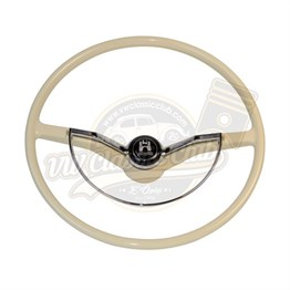 Ivory Steering Wheel with Horn Push and D-ring