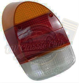 Complete Rear Light - Yellow & Red Lens (1300-1302)