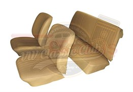 Imitation Leather Seat Upholstery Beige Set (1300-1302-1303)