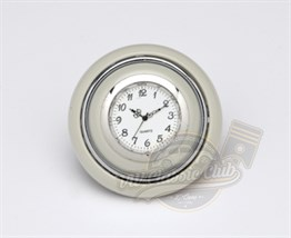 Horn Button With Clock White-Silver (1100-T1)
