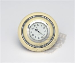 Horn Button With Clock Ivory-Silver (1100-T1)